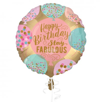 "Folienballon ""Happy Birthday"" Stay Fabulous 