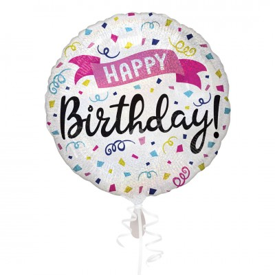 "Folienballon ""Happy Birthday"" Sparkle Banner 