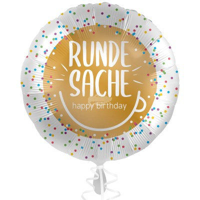 "Folienballon Runde Sache ""Happy Birthday"" 