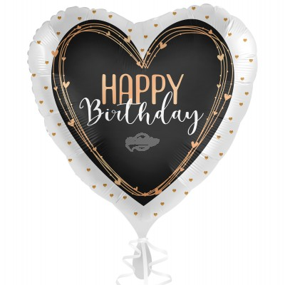 "Folienballon ""Happy Birthday"" Elegant Hearts 