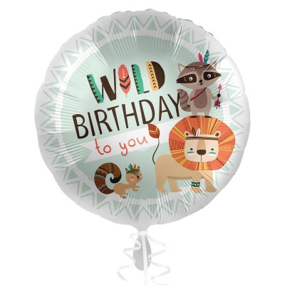 Folienballon - Satin - Wild Birthday | Heliumballon