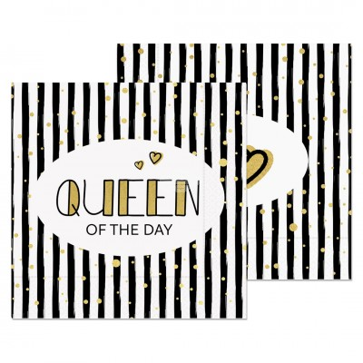 "Servietten ""Queen of the Day"""