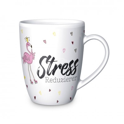 "Becher ""Stressreduzierer"" Flamingo"