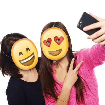 5er Set Emoji Party Masken