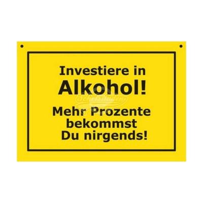 """Türschild Baustellenschild """"Alkohol"""" - Verbotene Schilder"""