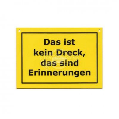 """Türschild Baustellenschild """"Das ist kein Dreck.."""" - Verbotene Schilder"""