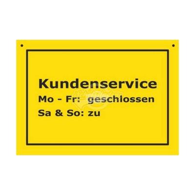 """Türschild Baustellenschild """"Kundenservice"""" - Verbotene Schilder"""