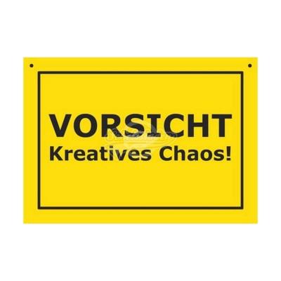 """Türschild Baustellenschild """"Vorsicht Kreatives Chaos"""" - Verbotene Schilder"""