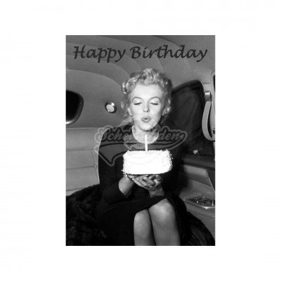 "Postkarte ""Happy Birthday"" - Marilyn Monroe"
