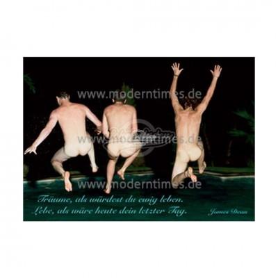 """Postkarte """"Träume als würdest du ewig Leben"""""""