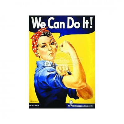 "Postkarte ""We can do it"" - Retro"