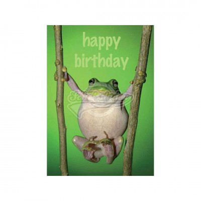 "Postkarte ""Happy Birthday"" - Frosch"