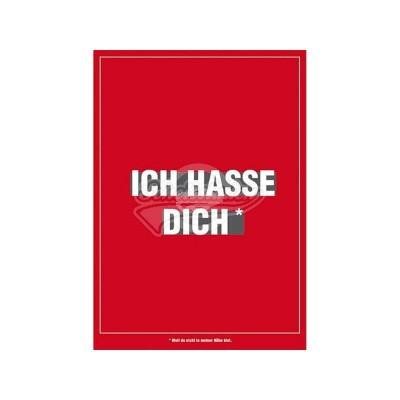 """Postkarte für ver- und geliebte """"Ich hasse dich"""""""