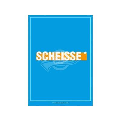 """Postkarte für ver- und geliebte """"Scheisse"""""""