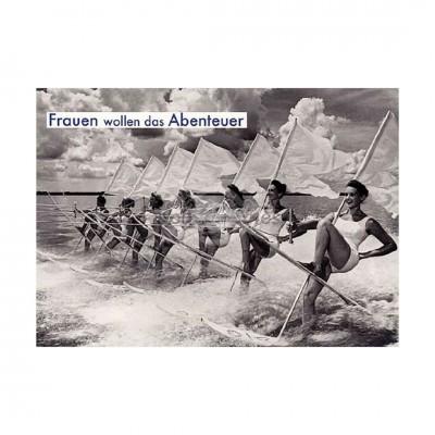 """Postkarte """"Frauen wollen das Abenteuer"""""""
