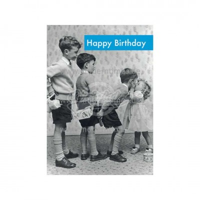 "Postkarte ""Happy Birthday - Kuss"""