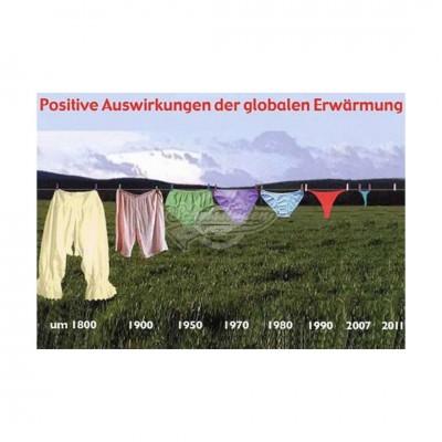 """Postkarte """"Positive Auswirkung der globalen Erwärmung"""""""