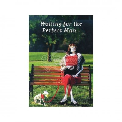 "Postkarte ""Waiting for the perfect man.."""