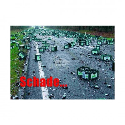 "Postkarte ""Schade"""