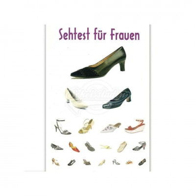 """Postkarte """"Sehtest für Frauen"""""""