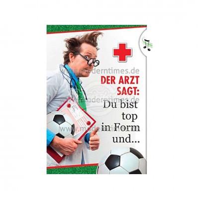 """Licht & Sound Karte """"Fußball im Kopf"""" - Happy Birthday"""