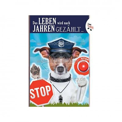 "Licht & Sound Karte ""Blitzer Polizei"" - Happy Birthday"