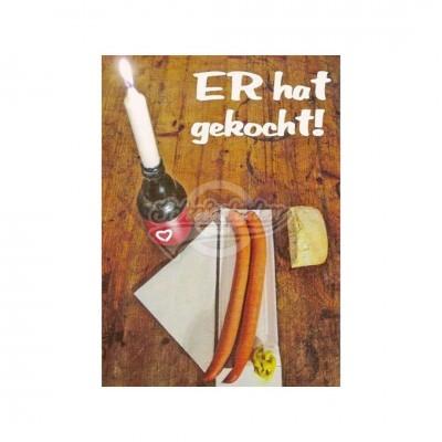 "Postkarte ""Männer Mahlzeit"""