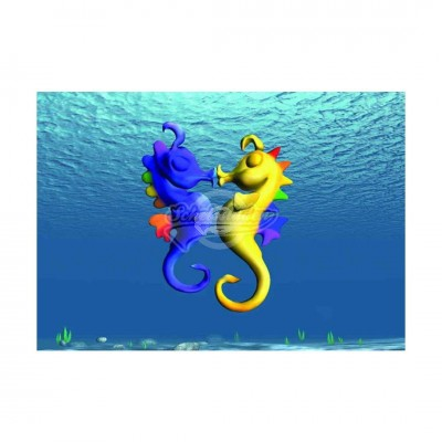 "Wackelkarte - 3D ""Seepferdchen"""