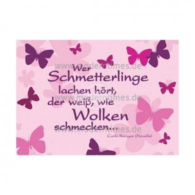 "Mini Grußkarte ""Schmetterlinge"""
