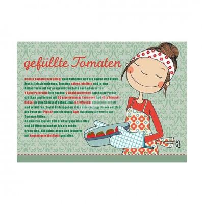 "Postkarte ""Gefüllte Tomaten"" - Rezept"