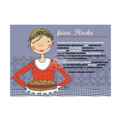 """Postkarte """"Feine Flocke"""" - Rezept"""