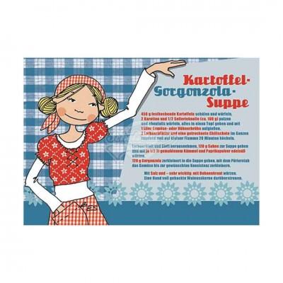 """Postkarte """"Kartoffel Gorgonzola Suppe"""" - Rezept"""