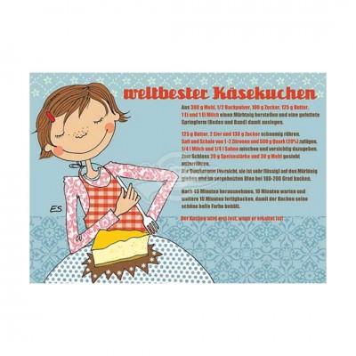 "Postkarte ""Weltbester Käsekuchen"" - Rezept"