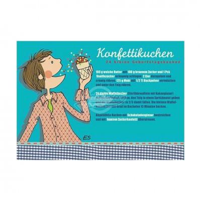"""Postkarte """"Konfettikuchen"""" - Rezept"""