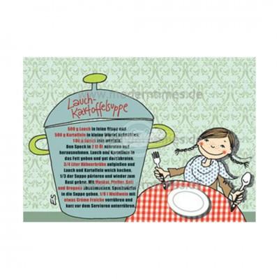 "Postkarte ""Lauch Kartoffelsuppe"" - Rezept"