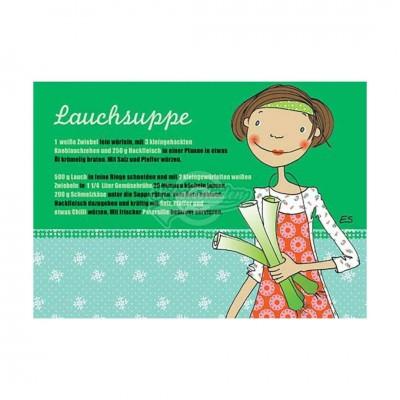 """Postkarte """"Lauchsuppe"""" - Rezept"""