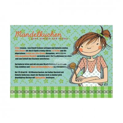 """Postkarte """"Mandelkuchen"""" - Rezept"""