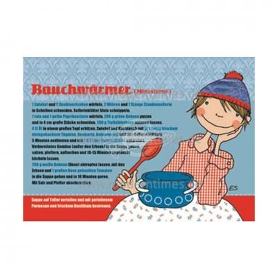 "Postkarte ""Bauchwärmer"" - Rezept"