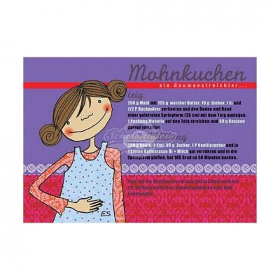 """Postkarte """"Mohnkuchen"""" - Rezept"""