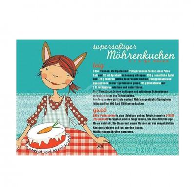 "Postkarte ""Möhrenkuchen"" - Rezept"