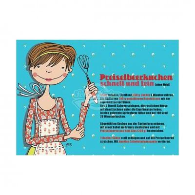 "Postkarte ""Preiselbeerkuchen"" - Rezept"