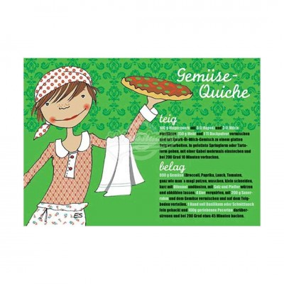 "Postkarte ""Gemüse Quiche"" - Rezept"