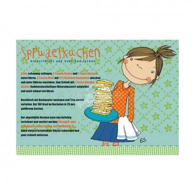 Postkarte Sprudelkuchen - Rezept
