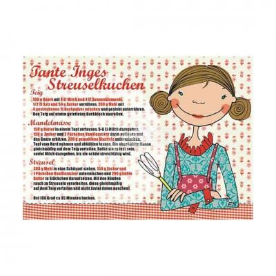 "Postkarte ""Tante Inges Streuselkuchen"" - Rezept"
