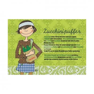 """Postkarte """"Zucchinipuffer"""" - Rezept"""