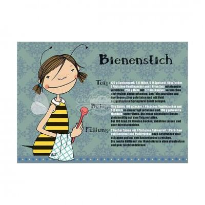 """Postkarte """"Bienenstich"""" - Rezept"""