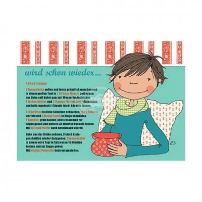 "Postkarte ""Hühnersuppe"" - Rezept"