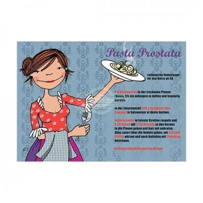 """Postkarte """"Pasta Prostata"""" - Rezept"""