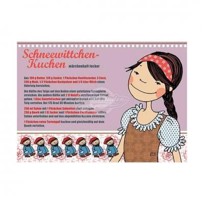 """Postkarte """"Schneewittchen Kuchen"""" - Rezept - von Modern Times - scheissladen.com"""