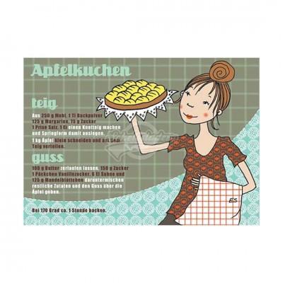 """Postkarte """"Apfelkuchen"""" - Rezept"""